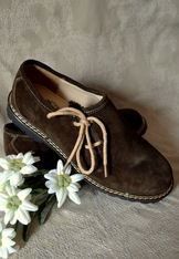 Shoes Men's Trachten Haferlschuh Brown Suede
