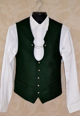 "Men's Trachten Vest Hammerschmid ""Paul"" Green"