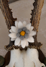 Small Edelweiss Pin - Hand Crafted Felted Wool