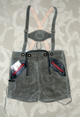 Lederhosen - Children's - Grey