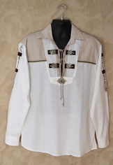 Men's Trachten Shirt White Pullover