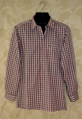 Men's Plaid Shirt Green Red White  *SALE*