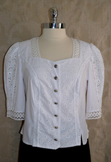 "Ladies' Eyelet Blouse "" Charlotte """