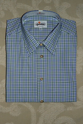 Men's Fine Green Plaid Shirt