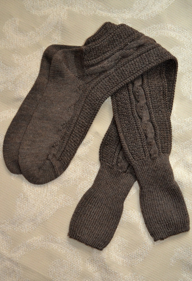 Lederhosen Socks Brown