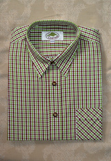 Men's Casual Shirt Plum and Lime Open Check