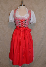 Dirndl Hartsee Coral Red Size 36(6) only