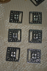 Dirndl Hooks Square with Rhinestones (Ten)