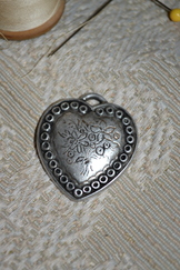 Pewter Heart Charm