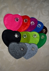 Heart Shaped Felt Purse