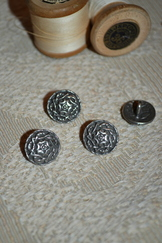 "Buttons Pewter Scroll Small (9/16"") set of 10"