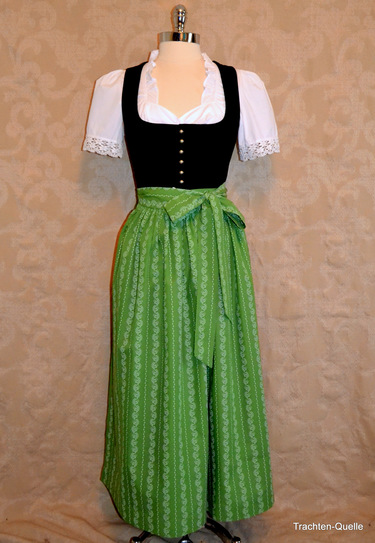 Dirndl Apron Long 100% Cotton Assorted Colours