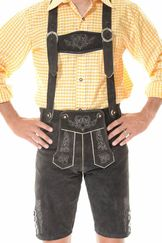 Lederhosen Bertl Dark Coffee Brown