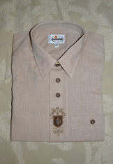 Men's Trachten Shirt Convertible Sleeve