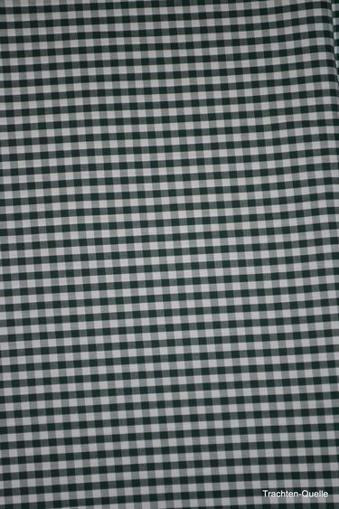 German_dirndl_fabric_green_check_detail