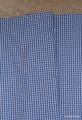 Fine Turkish Cotton Fabric Yardage - Blue