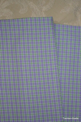 Fine Turkish Cotton Fabric Yardage - Mauve Green Plaid