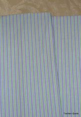 Fine Turkish Cotton Fabric Yardage - Mauve Green Stripe