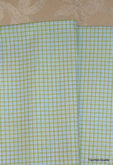 Fine Turkish Cotton Fabric Yardage - Blue Green Plaid