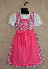 Girls' Dirndl Fuchsia Check