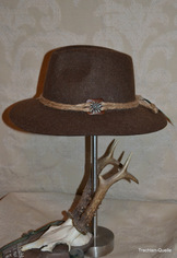Men's Wide Brim Casual Hat Brown or Grey