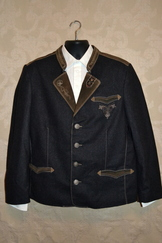 Men's Loden & Suede Jacket Steig