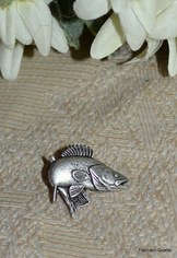 Hat or Lapel Pin Fish
