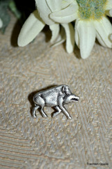 Hat or Lapel Pin Boar