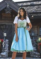 Dirndl Burgsee Green and Blue Size 10 only