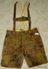 Lederhosen Freising Antique Tan
