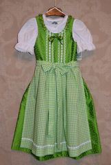 COPY OF Girls' Dirndl Green Brocade