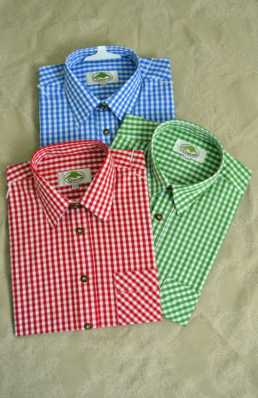 Men's Trachten Shirt Traditional Check (3 Colour Choices)