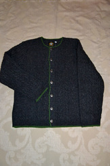 Men's Cable Stitch Cardigan Charcoal