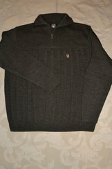Men's Quarter Zip Sweater Green