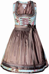 Dirndl Tiramisa Blue and Taupe