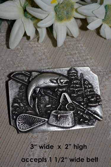 Belt Buckle Fishing Motif