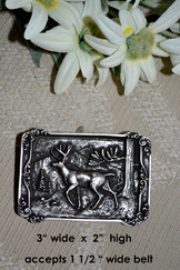 Belt Buckle Rectangle Stag