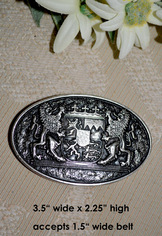 Belt Buckle Oval with Bavarian Coat of Arms