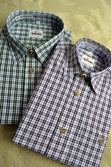 Boy's Plaid Trachten Shirt Plum/Blue