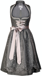 Dirndl Cornetta Grey Linen with Lace