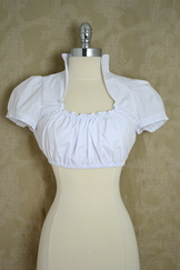 Dirndl Blouse Beate II High Neckline