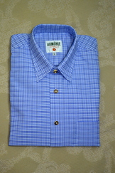 Men's Casual Shirt Two-Tone Blue Plaid