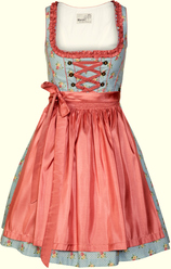 Short Dirndl Aleksa Blue Rose