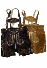 Boy's Lederhosen Shorts Camel or Dark Brown Sizes 6 thru 10