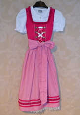Girl's Dirndl Fuchsia, Size 6 only