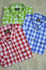 Boy's Trachten Shirt Large Check - 3 Colour Choices