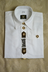 Boy's Trachten Shirt with Metal Details