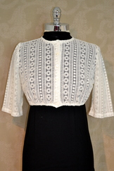 Dirndl Blouse Ivory Lace Button Front