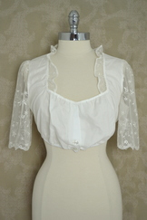 Ivory Lace Dirndl Blouse Size 14 only