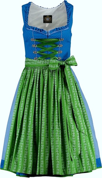 Dirndl Thunersee Turquoise Green